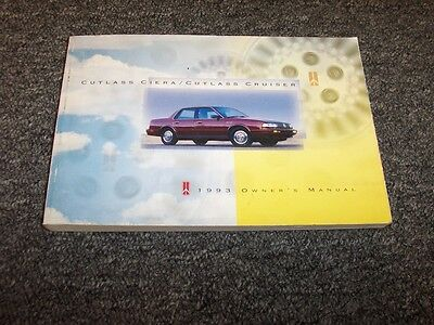 1993 oldsmobile cutlass ciera owners manual