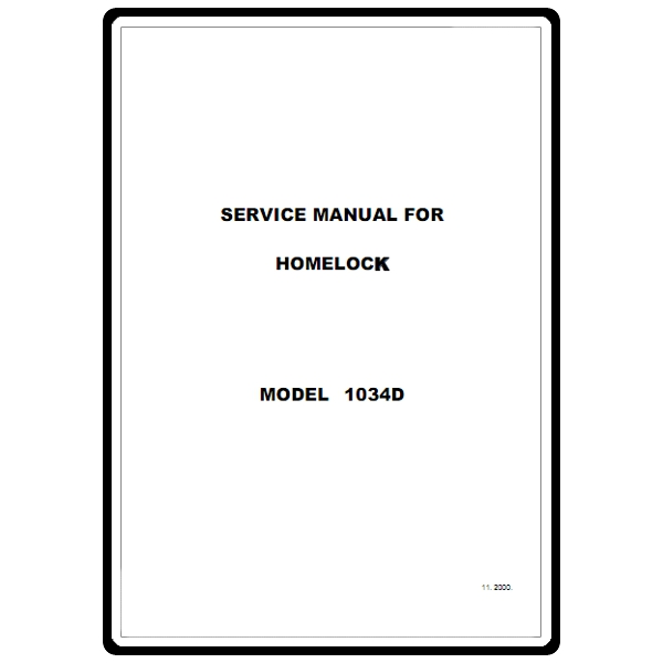 brother serger 1034d service manual