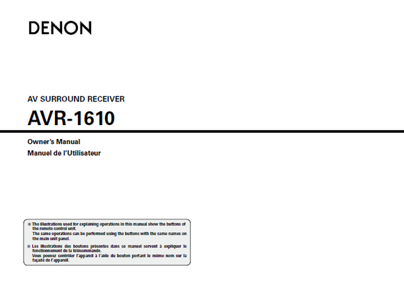 denon avr 1610 service manual