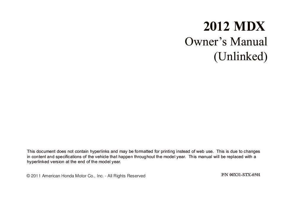 acura mdx owners manual 2017