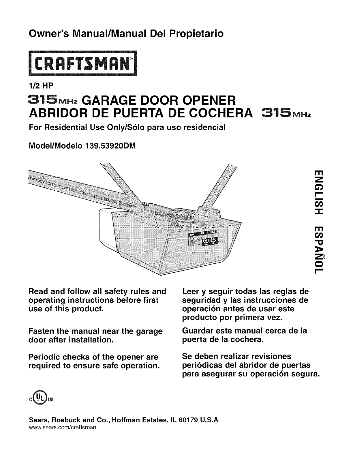 craftsman 41a5021 2f owners manual