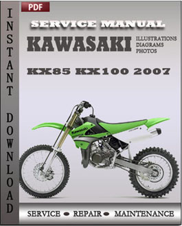 kawasaki kx 85 service manual